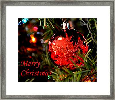 Christs Birthday Framed Print featuring the photograph Merry Christmas by Deena Stoddard