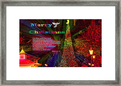Merry Christmas Explosion Framed Print by Terry Wallace
