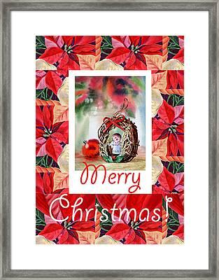 Merry Christmas From An Angel Framed Print by Irina Sztukowski