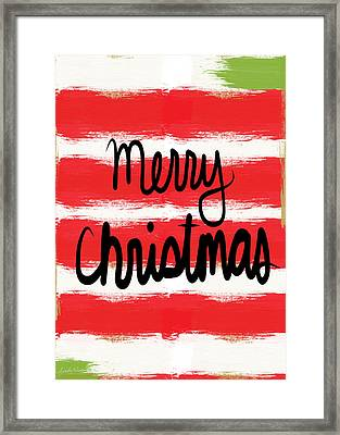 Merry Christmas- Greeting Card Framed Print by Linda Woods