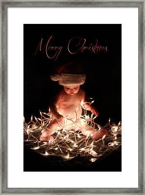 Merry Christmas Framed Print by Lisa Evans