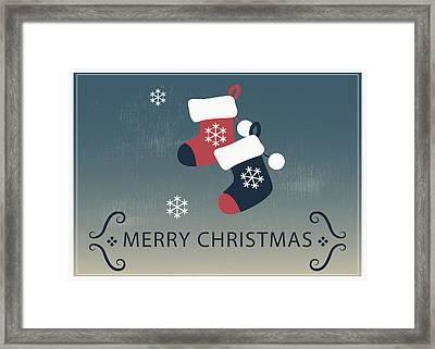 Merry Christmas Stocking Stuffers Framed Print by Florian Rodarte