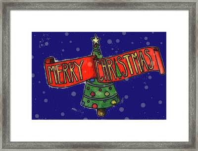 Merry Christmas Tree Framed Print by Jame Hayes