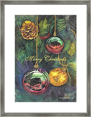 Merry Christmas Wishes Framed Print by Carol Wisniewski