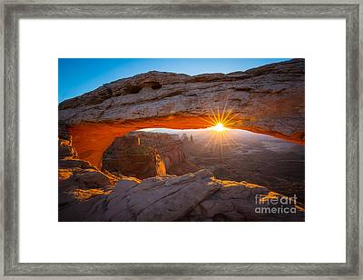 Mesa Arch Dawn Framed Print by Inge Johnsson