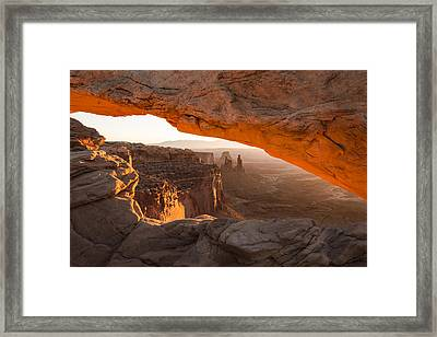 Mesa Arch Sunrise 5 - Canyonlands National Park - Moab Utah Framed Print by Brian Harig