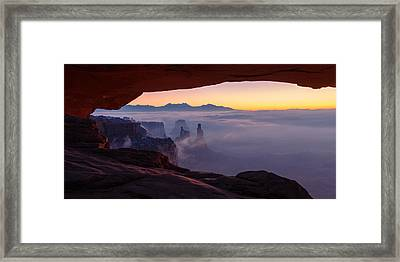 Mesa Mist Framed Print by Chad Dutson