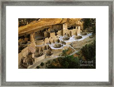 Mesa Verde Cliff Palace Framed Print by Bob Christopher