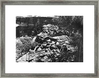 Mesa Verde Explorations Framed Print by Underwood Archives