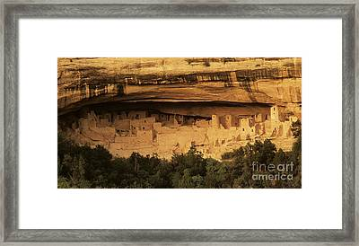 Mesa Verde Home Of The Ancients Framed Print by Bob Christopher