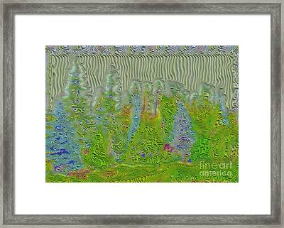 Meshed Tree Abstract Framed Print by Liane Wright