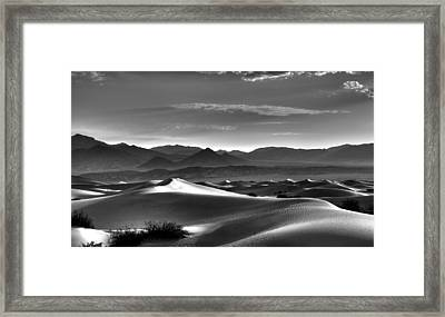 Mesquite Dunes Framed Print by Mike Herdering