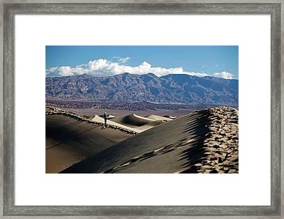 Mesquite Flat Sand Dunes Framed Print by Jim West