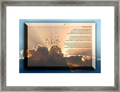 Message From Heaven Framed Print by Carolyn Marshall