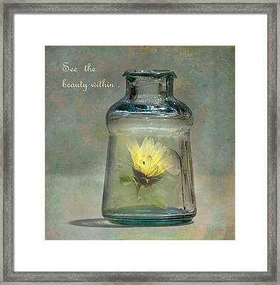 Message In A Bottle Framed Print by Angie Vogel