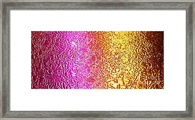 Metal Abstract Framed Print by Tony Cordoza