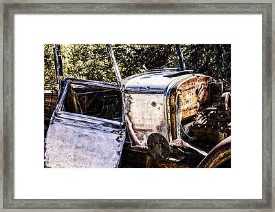 Metal And Rust Framed Print by Joseph S Giacalone