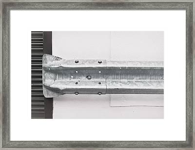 Metal Barrier Framed Print by Tom Gowanlock