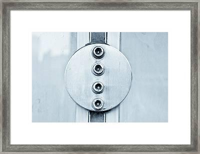 Metal Bolts Framed Print by Tom Gowanlock