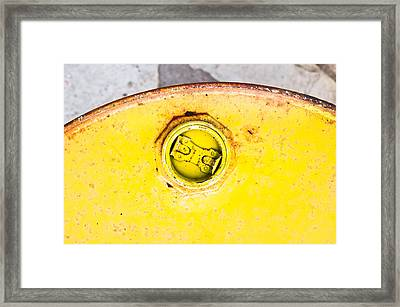 Metal Can Framed Print by Tom Gowanlock