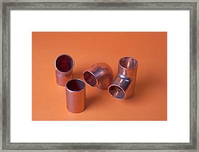 Metal Fittings Framed Print by Marek Poplawski