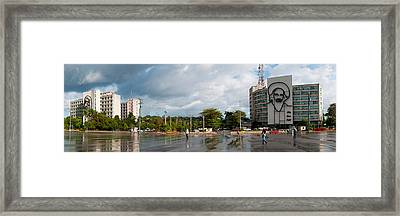 Metal Sculptures Of Camilo Cienfuegos Framed Print by Panoramic Images