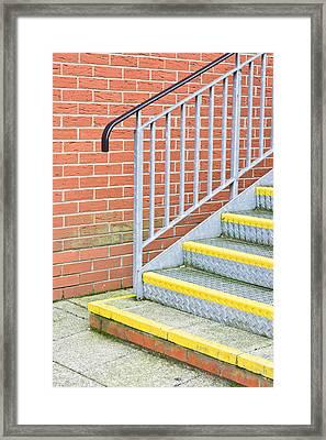 Metal Steps Framed Print by Tom Gowanlock