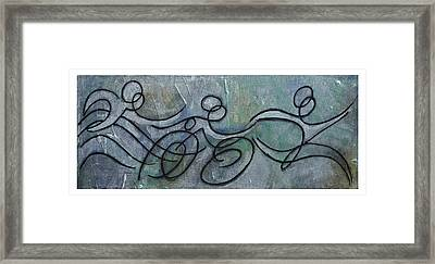 Metallic Blue Triathlon Sequence Framed Print by Alejandro Maldonado