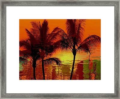 Metallic Sunset Framed Print by Athala Carole Bruckner