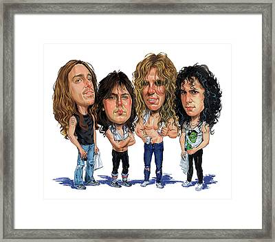 Metallica Framed Print by Art