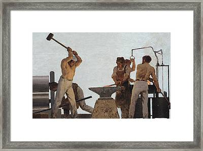 Metallurgy Framed Print by Jules Didier