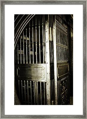 Metals Bank Vault Framed Print by Image Takers Photography LLC - Laura Morgan