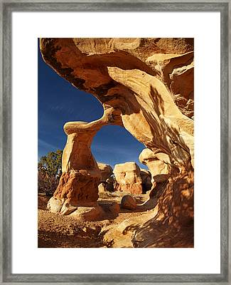 Metate Arch Framed Print by Leland D Howard
