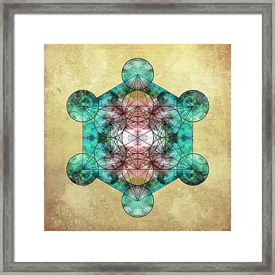 Metatron's Cube Framed Print by Filippo B