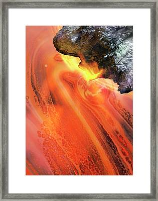 Meteor In Space Framed Print by Victor Habbick Visions