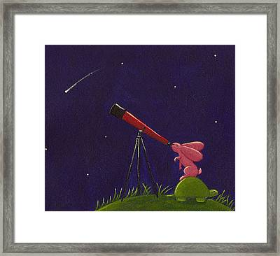 Meteor Shower Framed Print by Christy Beckwith