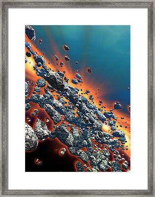 Meteor Shower Framed Print by Victor Habbick Visions