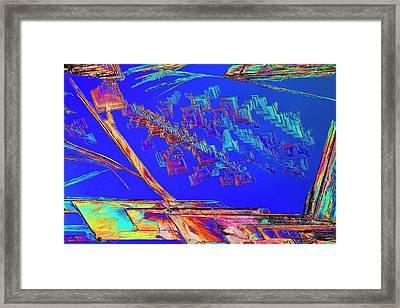 Metformin Drug Crystals Framed Print by Antonio Romero