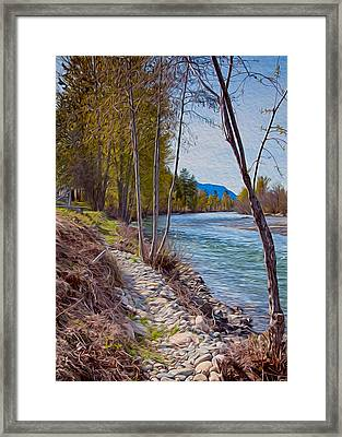 Methow River Coming From Mazama Framed Print by Omaste Witkowski