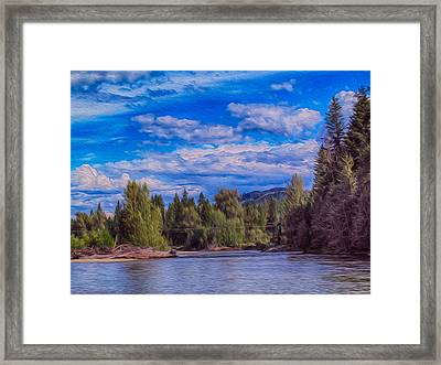 Methow River Crossing Framed Print by Omaste Witkowski
