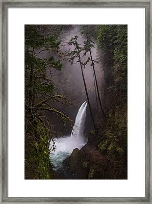 Metlako Falls Oregon Framed Print by Larry Marshall
