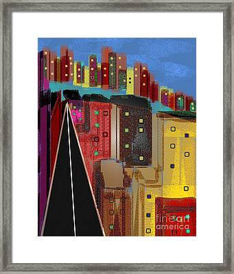 Metro By The Lake Framed Print by James Cole