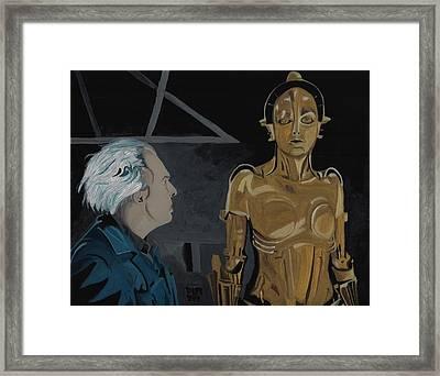 Metropolis Panel 3 Framed Print by David Moriarty