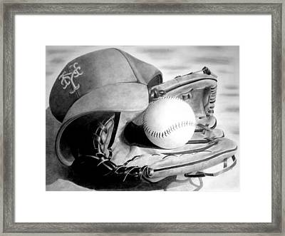 Mets Framed Print by Jennifer Wartsky