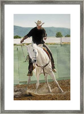 Mexican American Cowboy Framed Print by Art Carrillo