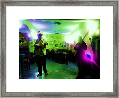 Mexican Cafe Musicians Framed Print by Shawn Lacey
