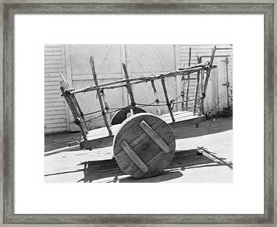 Mexican Cart Framed Print by Underwood Archives