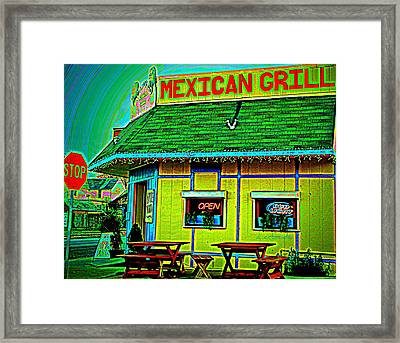 Mexican Grill Framed Print by Chris Berry