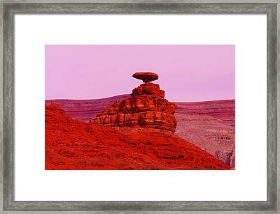 Mexican Hat  Framed Print by Jeff Swan