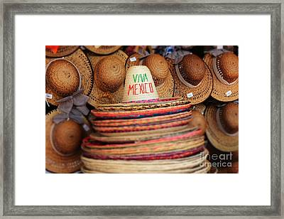 Mexican Hats Framed Print by Sophie Vigneault